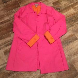 Caribbean Joe Pink Trench/Raincoat Medium